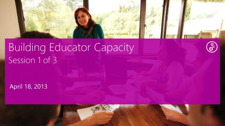 Building Educator Capacity