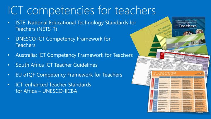 ICT competencies for