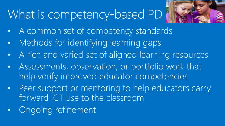 What is competency-based PD