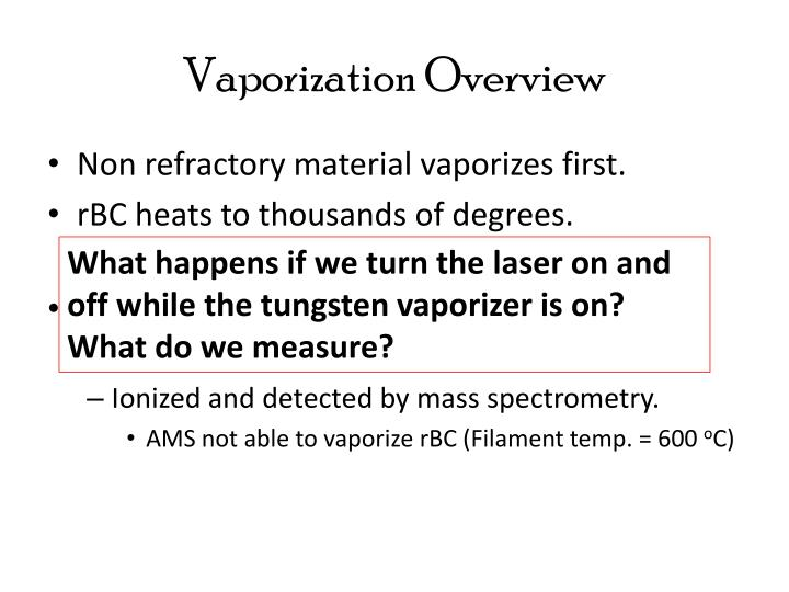 Vaporization Overview