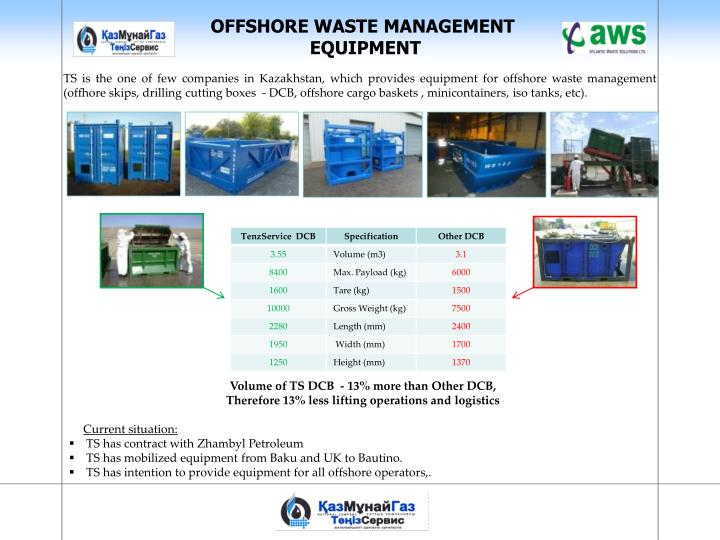 OFFSHORE WASTE MANAGEMENT