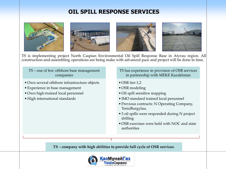 TS – company with high abilities to provide full cycle of OSR services.