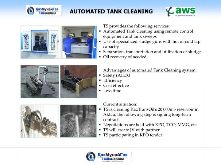 AUTOMATED TANK CLEANING