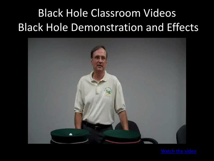 Black Hole Classroom Videos