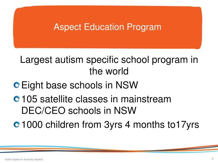 Aspect Education Program
