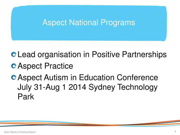 Aspect National Programs