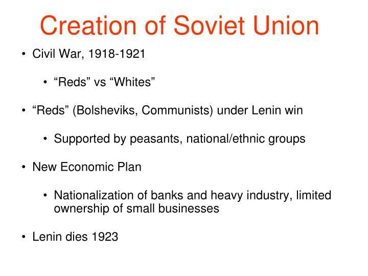 Creation of Soviet Union