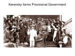 kerensky forms provisional government