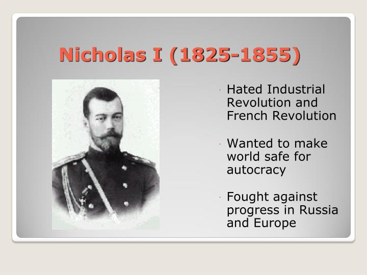 Nicholas I (1825-1855)