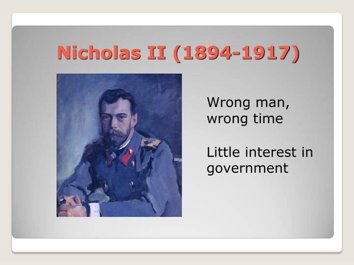 Nicholas II (1894-1917)