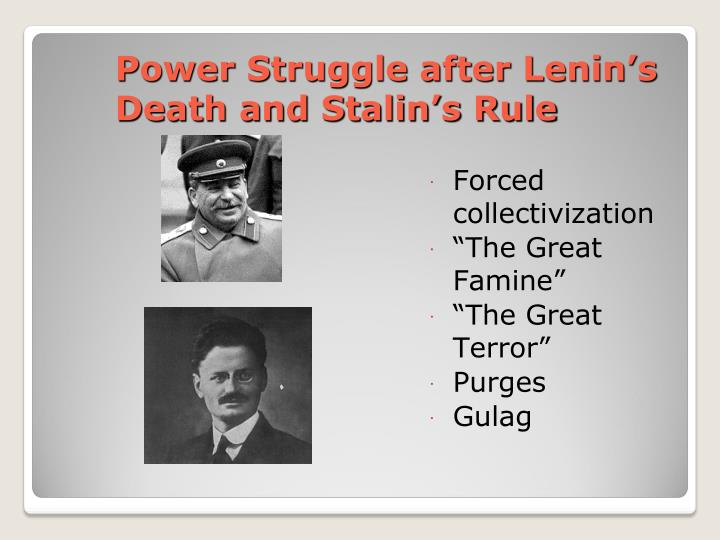Power Struggle after Lenin's Death and Stalin's Rule