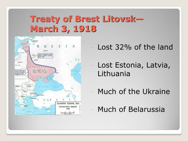 Treaty of Brest Litovsk—