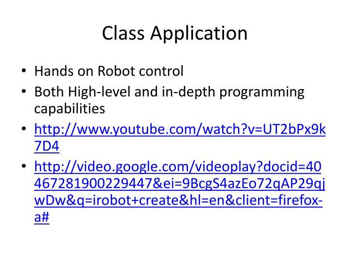 Class Application