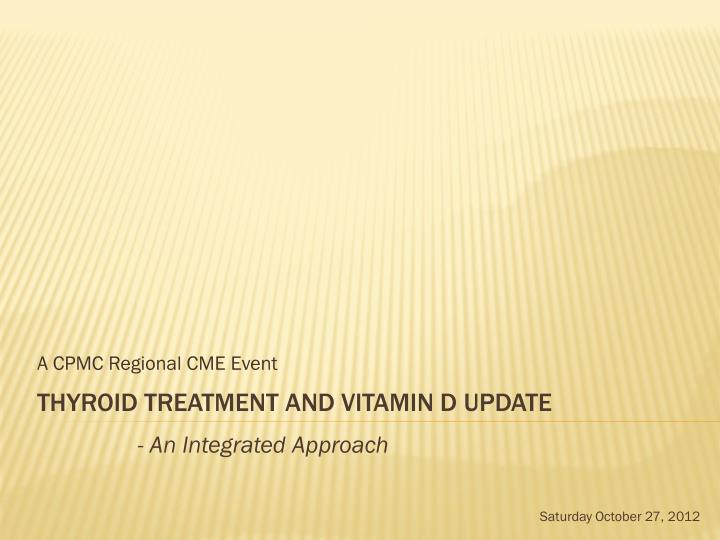 A cpmc regional cme event