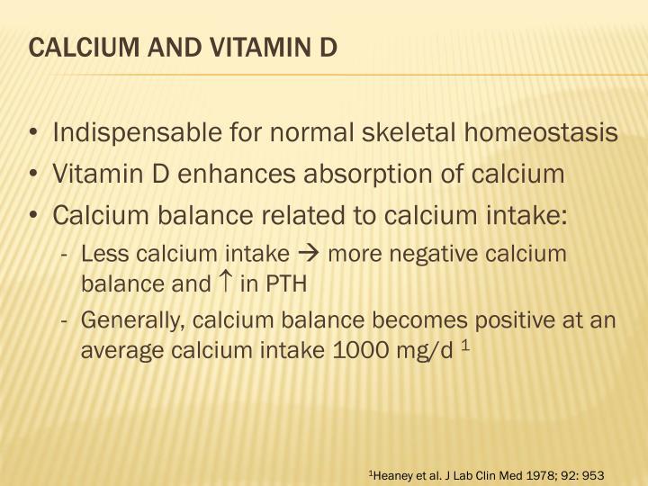 Calcium and vitamin