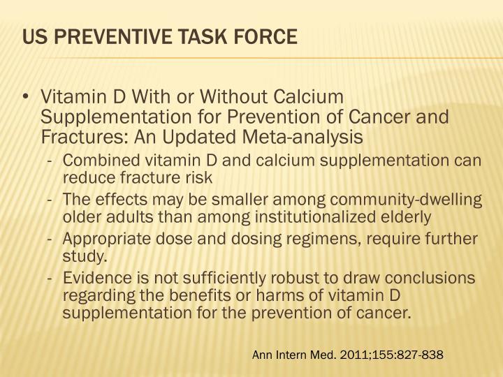 US Preventive Task Force