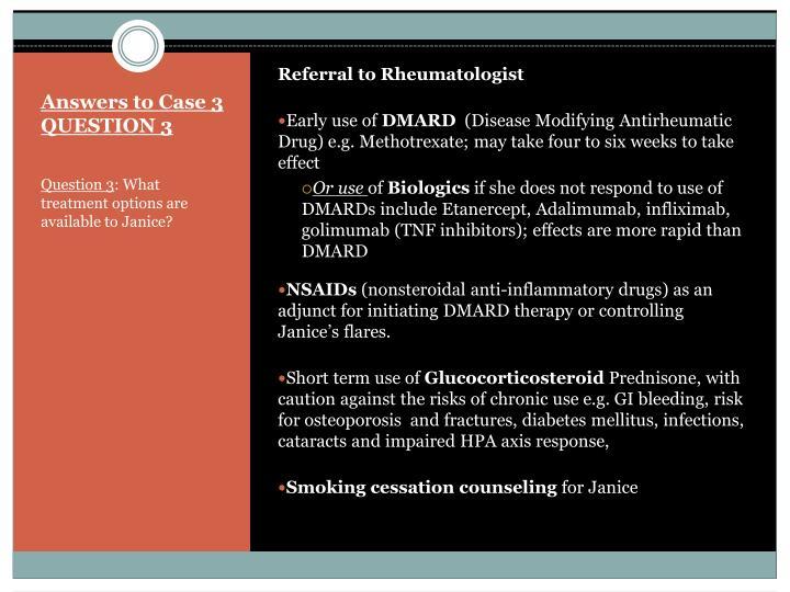 Referral to Rheumatologist