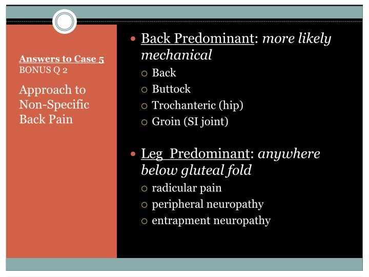 Back Predominant
