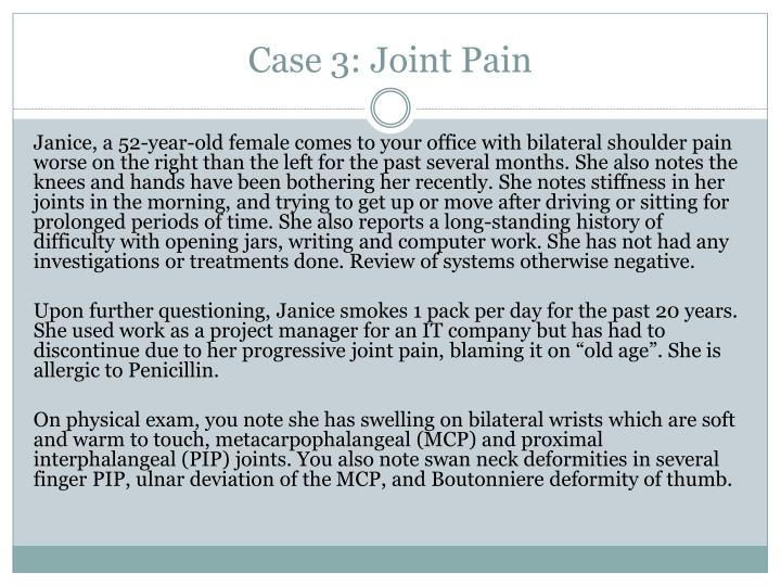 Case 3: Joint Pain