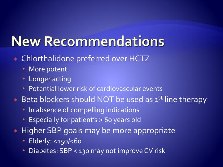 New Recommendations