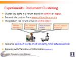 experiments document clustering