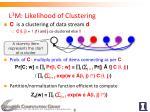 l 3 m likelihood of clustering