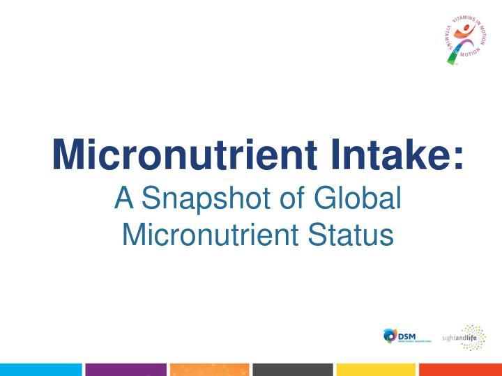 Micronutrient Intake: