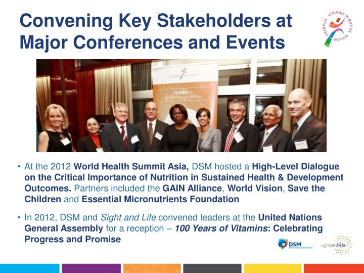 Convening Key Stakeholders at Major Conferences and Events