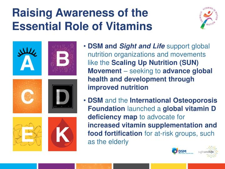 Raising Awareness of the Essential Role of Vitamins
