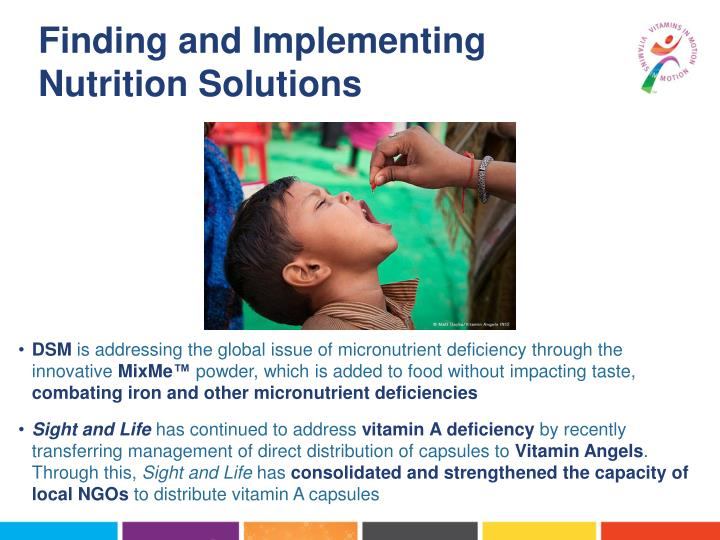 Finding and Implementing Nutrition Solutions