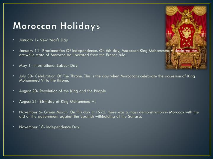 Moroccan Holidays