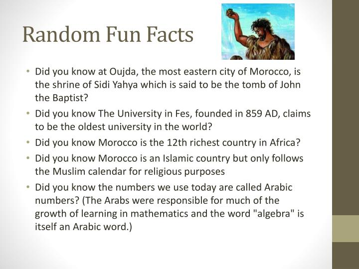 Random Fun Facts