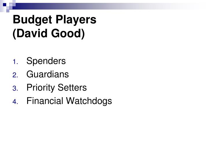 Budget Players