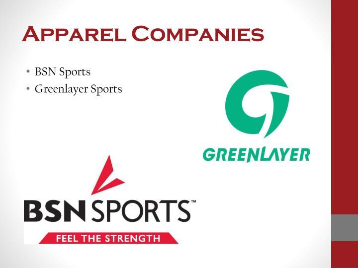 Apparel Companies