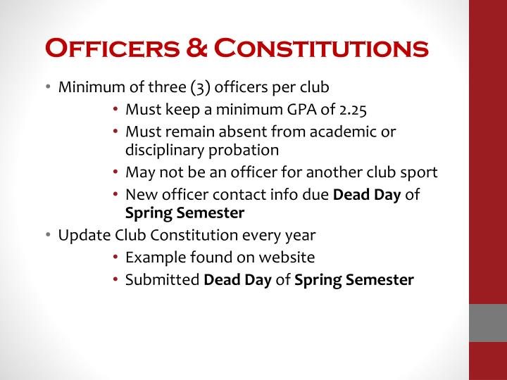 Officers & Constitutions
