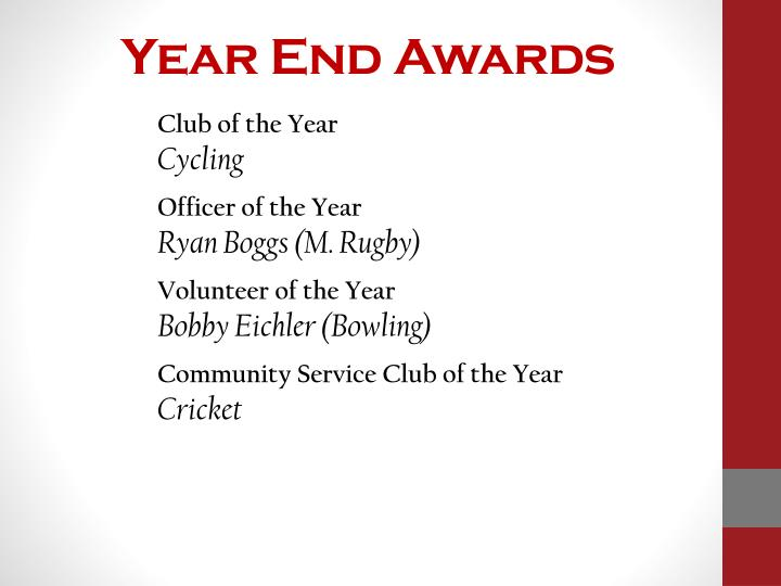 Year End Awards