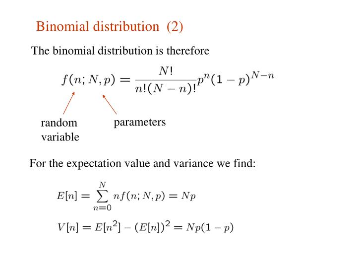 Binomial distribution  (2)