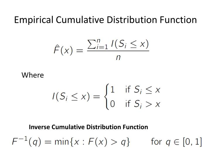 Empirical Cumulative Distribution Function