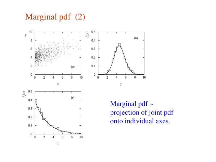 Marginal pdf  (2)