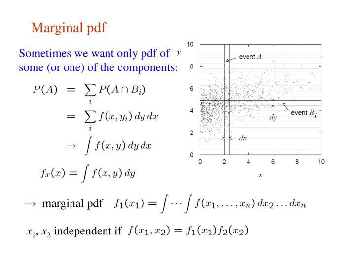 Marginal pdf