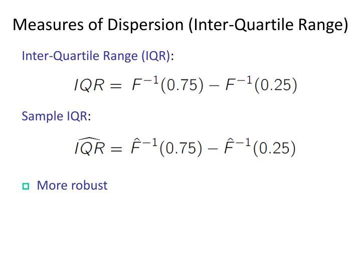 Measures of Dispersion (Inter-Quartile Range)