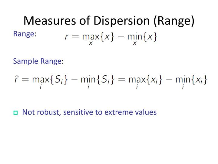 Measures of Dispersion (Range)