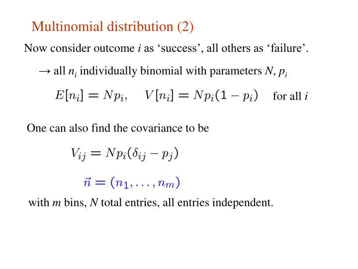 Multinomial distribution (2)