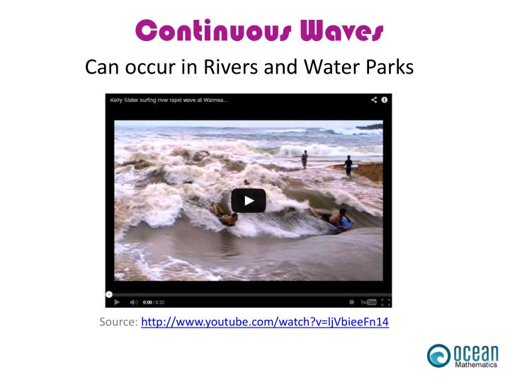 Can occur in Rivers and Water