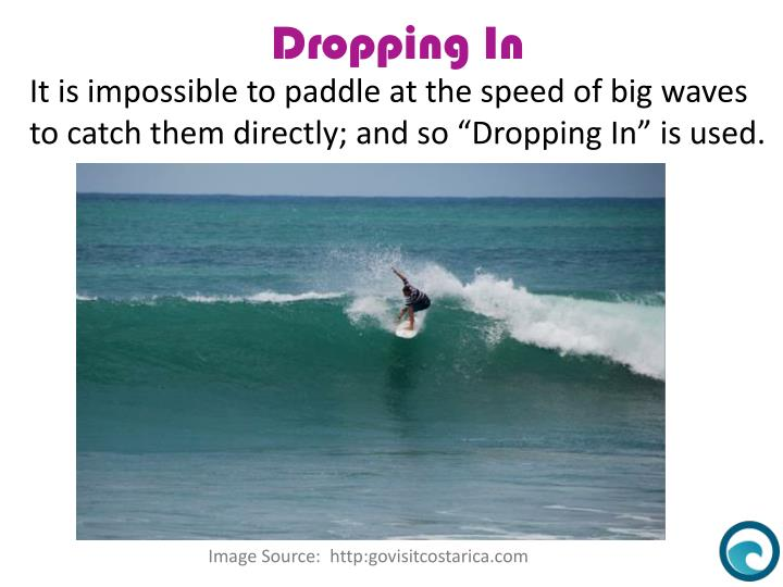 It is impossible to paddle at the speed of big waves