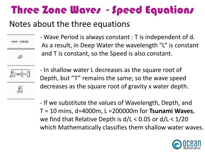 Notes about the three equations