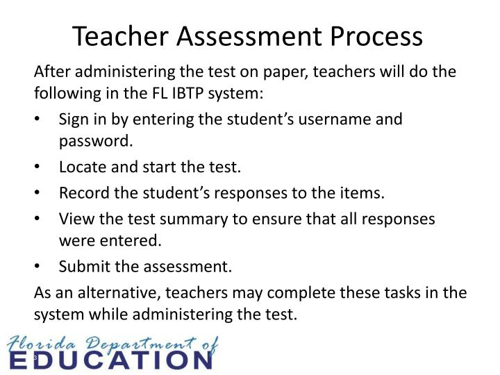 Teacher Assessment Process