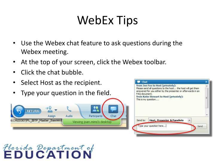 WebEx Tips