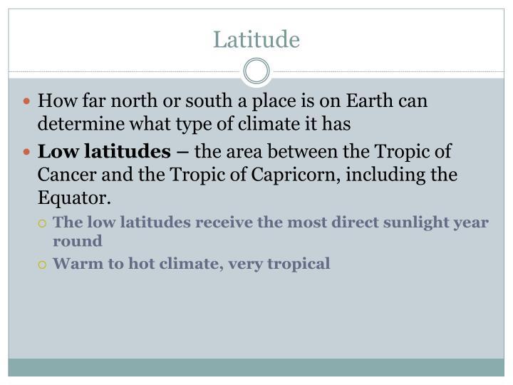 Latitude