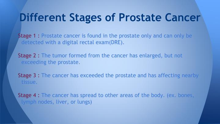 Different Stages of Prostate Cancer